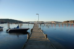 Empty wharf in winter Royalty Free Stock Image