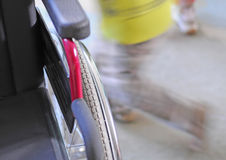 Empty wheelchair Stock Images