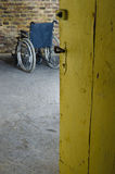 Empty wheelchair Royalty Free Stock Images