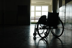 Empty wheelchair royalty free stock photo
