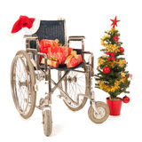 Empty wheelchair for Christmas party Stock Photography