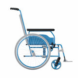 Empty wheelchair on white isolated background Stock Images