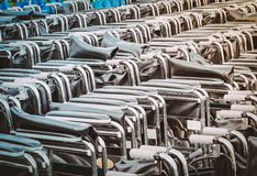 Empty wheelchairs parked for emergency patients royalty free stock photos