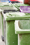 Empty wheelie bins Stock Image