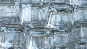 Empty whiskey glasses on table Stock Image
