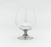 Empty whisky or brandy glass Royalty Free Stock Photos