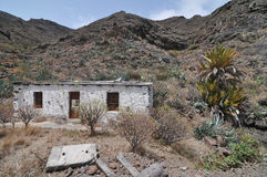 Empty White Abandoned Building in the Desert Royalty Free Stock Photography