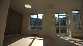 Empty white apartment in a new residential building