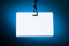 Empty white badge Stock Images