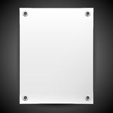Blank white banner painted in the vector Stock Photo
