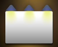 Empty white banner. Stock Image