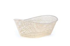 Empty white basket plastic Stock Photo