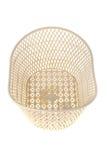 Empty white basket plastic, isolated Royalty Free Stock Images