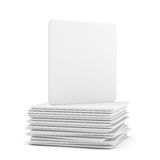 Empty white beer coaster Stock Images