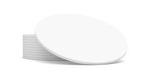 Empty white beer coaster Royalty Free Stock Images