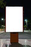 Empty white billboard Royalty Free Stock Photography
