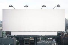 Empty white billboard Royalty Free Stock Photography