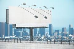 Empty white billboard Royalty Free Stock Image