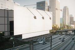 Empty white billboard side Stock Image