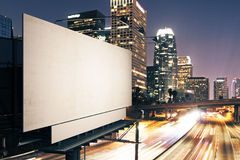 Empty white billboard side Royalty Free Stock Images