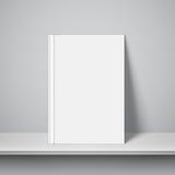 Empty White Book Template Stock Image