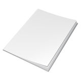 Empty White Book Stock Images