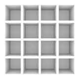 Empty white bookshelf Stock Images