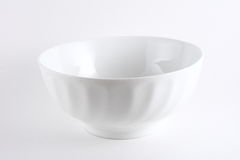 Empty White Bowl. On white background stock photography