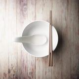 Empty of white bowl Stock Photo