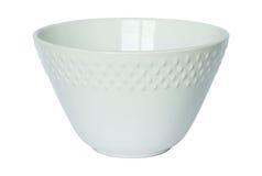 Empty white bowl isolated on white Stock Images