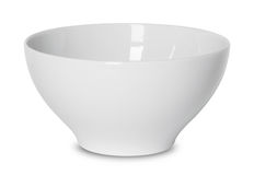 Empty white bowl isolated on white Royalty Free Stock Photo