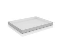 Empty White Box. White, open, empty box, isolated on white background Stock Photos