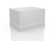 Empty White Box. White, open, empty box template, isolated on white background Royalty Free Stock Photo