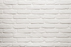 Empty white brick wall royalty free stock image
