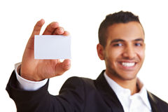 Empty white business card Royalty Free Stock Images