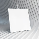Empty white business card. 3d vector illustration Stock Image
