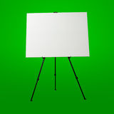 Empty white canvas and modern easel Royalty Free Stock Image