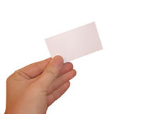 Empty white card. Isolated empty white blank card ready for text Stock Images