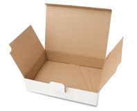 Empty white cardboard box Royalty Free Stock Photography