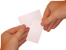 Empty white cards Royalty Free Stock Photo