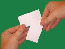 Empty white cards Stock Photo