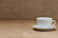 Empty white coffee cup Stock Photos