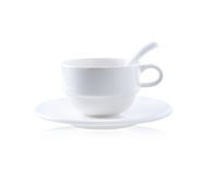 Empty white coffee cup Royalty Free Stock Images