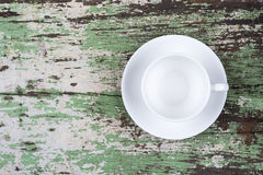 Empty white coffee cup Stock Photo