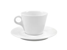 Empty white coffee cup and saucer Royalty Free Stock Photography