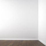 Empty white corner. Room for placment of your product or model all copy space Stock Image
