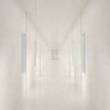Empty White Corridor Royalty Free Stock Photo
