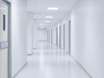 Empty white corridor background Stock Image
