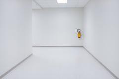 Empty white corridor background Royalty Free Stock Photos