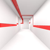 Empty White Corridor. 3d illustration Royalty Free Stock Image